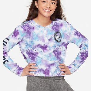 NWT Justice Logo Cozy Tie Dye Sweatshirt